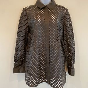 """Uterque sheep leather blouse L Chest 43"""""""